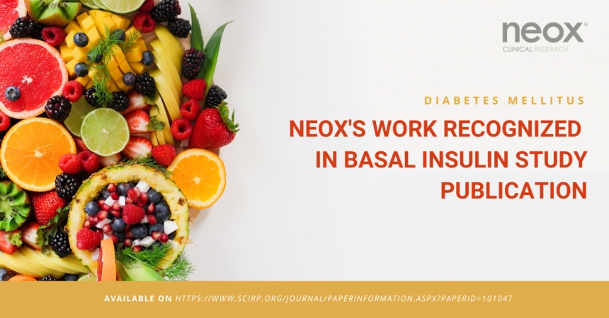 NEOX recognized in the Basal Insulin study publication
